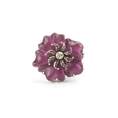 Martina Pink Flower Ring