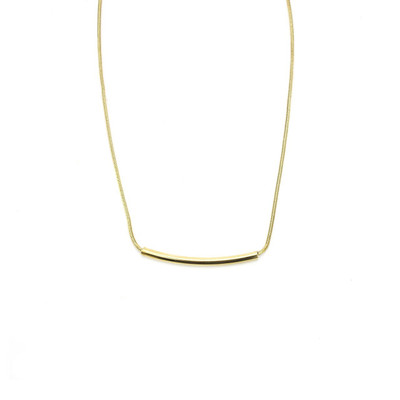 Gold Groove Necklace in Petite