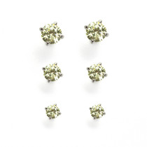 Tranquil Meadow Cubic Zirconia Stud Earrings Set