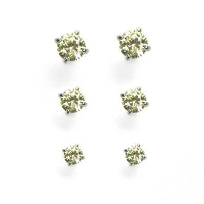 Tranquil Meadow Cubic Zirconia Stud Earrings Set