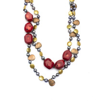 Bali Hai Genuine Red Turquoise Necklace