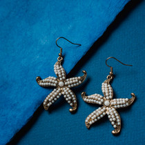 Mermaid Vibes Beaded Starfish Statement Earrings