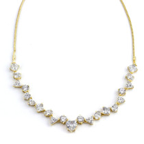 Dainty Details Cubic Zirconia Gold Tone Necklace