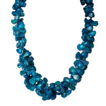 Tropical Waters Dyed Genuine Bamboo Coral Necklace