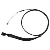 Commscope Bend insensitive singlemode duplex path cord, LC to LC 2-fiber distribution and riser rated, ruggedized and with black jacket. 100 Meters in length.