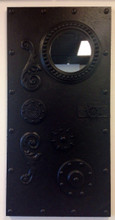 Steampunk Styled Faux Door with Mirror