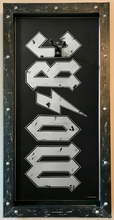 MORC - MONSTERS OF ROCK CRUISE G-FRAME GUITAR DISPLAY FRAME AND CASE - Black and Silver
