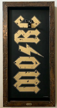 MORC - MONSTERS OF ROCK CRUISE G-FRAME GUITAR DISPLAY FRAME AND CASE - Black and Gold