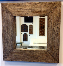 Large Gold wizard wood Mirror