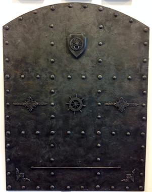 Doors, Decorative Doors, Vault Steel Door, Man cave decor, Steampunk, Medieval, Gothic, (Faux Steel),