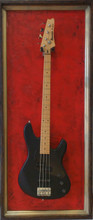 "G Frames ""Red Fleur Di Lis"" Guitar or Bass Display Case"