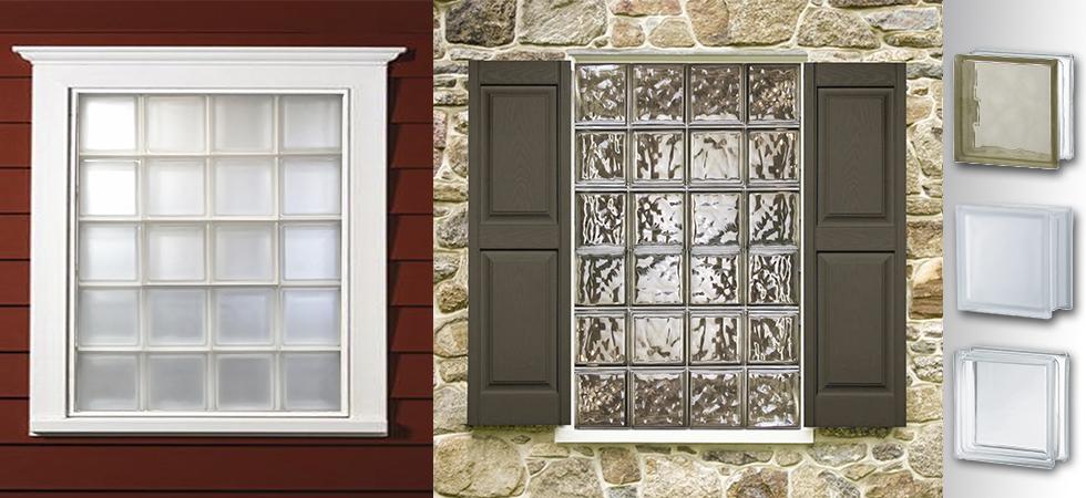 Designer glass block for Pre assembled glass block windows