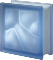 Pegasus Blue Q19 Satin Glass Block