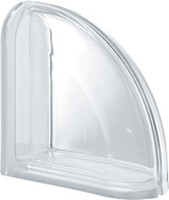 Pegasus Neutro End Curved Transparent Glass Block