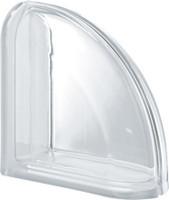 Pegasus Neutro End Curved Transparent Glass Block