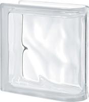 Pegasus Neutro End Linear Wavy Glass Block