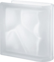 Pegasus Neutro End Linear Satin Glass Block