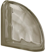 Pegasus Siena End Curved Wavy Glass Block