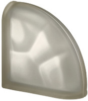 Pegasus Siena End Curved Satin Glass Block