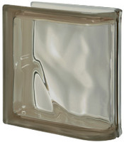 Pegasus Siena End Linear Wavy Glass Block