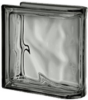 Pegasus Metalized Nordica End Linear Wavy Glass Block