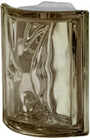 Pegasus Metalized Siena Corner Wavy Glass Block