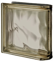 Pegasus Metalized Siena End Linear Wavy Glass Block