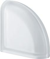 Pegasus Neutro End Curved Satin Transparent Glass Block
