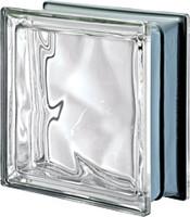 Pegasus 3D Onda Esterna Metalized Glass Block - Neutro