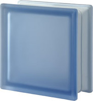 Pegasus Blue Q19 Satin Transparent Glass Block