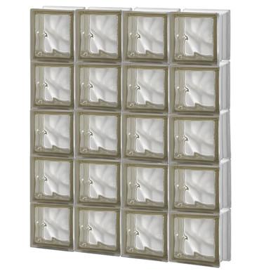 30 x 37 5 pre assembled panel pegasus collection for Pre assembled glass block windows