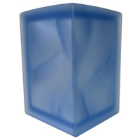Pegasus Blue 90 Degree Corner Satin Glass Block