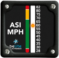 Air Speed Indicator 28-82MPH square bezel