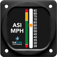 "Air Speed Indicator 28-82MPH with round 2.25"" bezel"