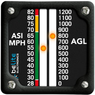 28-82MPH ASI / AGL with square bezel