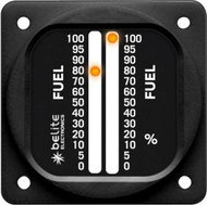 """Universal Dual Display LED Fuel Gauge with 2.25"""" round bezel"""