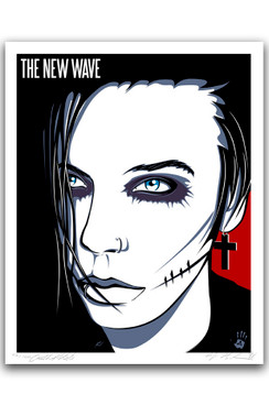 "NEW WAVE - OF ANDY BIERSACK BY RICHARD VILLA III ""16 X ""20 GICLEE ART PRINT"