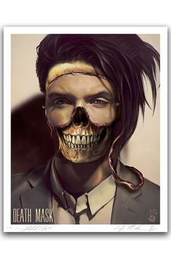 "DEATH MASK - OF ANDY BIERSACK BY RICHARD VILLA III ""16 X ""20 GICLEE ART PRINT"