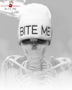 Bite Me White Beanie