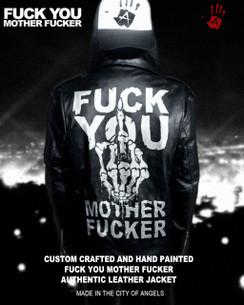 FUCK YOU MOTHER FUCKER LEATHER JACKET