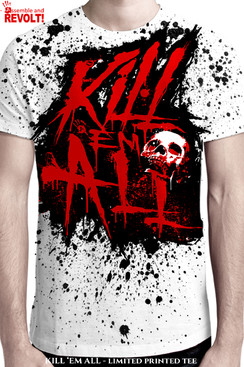 KILL EM ALL ORIGINAL ARTWORK BY RICHARD VILLA III.