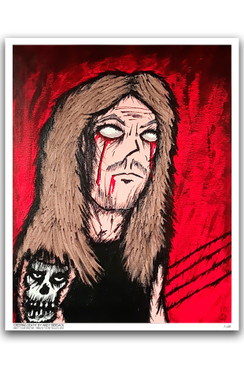 "CREEPING DEATH - OBEY YOUR MASTER - ANDY BIERSACK - COLOR ""16 X ""20 GICLEE ART PRINT"