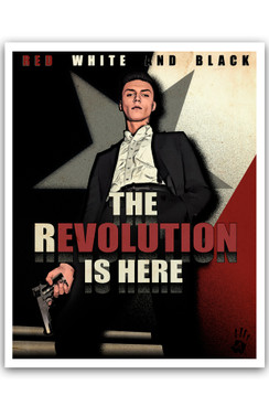 "REVOLUTION- RICHARD VILLA III COLOR ""16 X ""20  ART PRINT -  BLACKREV"