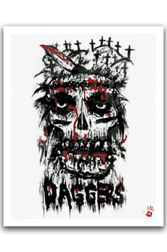 DAGGERS SIGNED AND NUMBERED GICLEE FINE ART POSTER PRINT BY ANDY BIERSACK FOR DAGGERS RULE! ARTSHOW