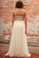 Athena's Blessing Cream Maxi Dress with Sequin Bodice back view.