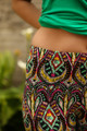 Tribal Jewels Geometric Printed Butter Soft Cropped Leggings waist view.