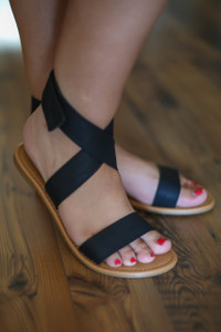 Edith Black Strappy Sandal