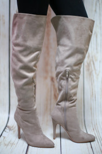 Ellery Clay Faux Suede Thigh High Boot