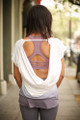 Lavender Lovely Ombre Open Back Work Out Top back view.
