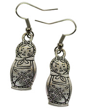 Matrioshka Earrings. Russian Doll.
